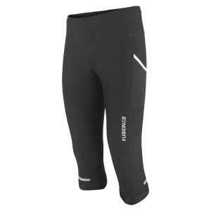Fusion, 3/4 tight, løbetights, sort, unisex