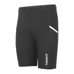 Fusion, short tight, løbetights, sort, unisex