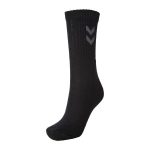 Hummel, 3-pack, basic sock, strømper, sort