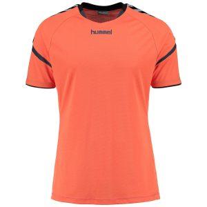Hummel, Auth Charge, poly jersey, T-shirt, nasturtium, børn