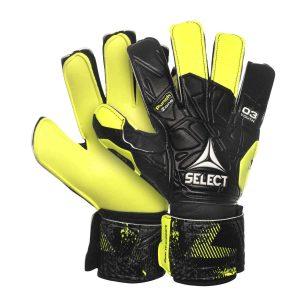 Select, goalkeeper gloves, 03, målmandshandsker, sort, gul