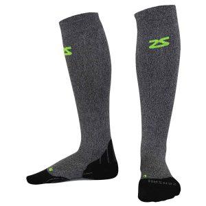 Zensah, compression, comfort, løbestrømper. kompressionsstrømper, strømper, grå