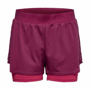 only play, joelle, training, shorts, bordeaux, beet red
