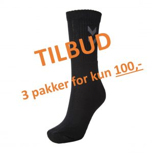 Hummel, 3x3-pack, basic sock, strømper, sort