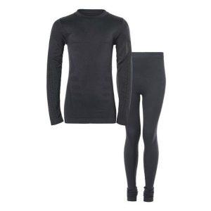 Zigzag, gualala, skiundertøj, seamless, sort