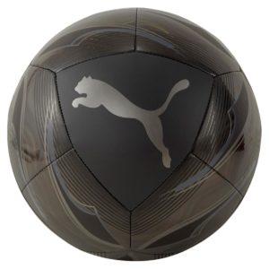Puma, icon, fodbold, sort