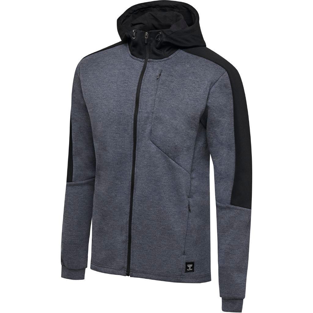 Hummel, tropper, hættetrøje, blå, zip, jacket