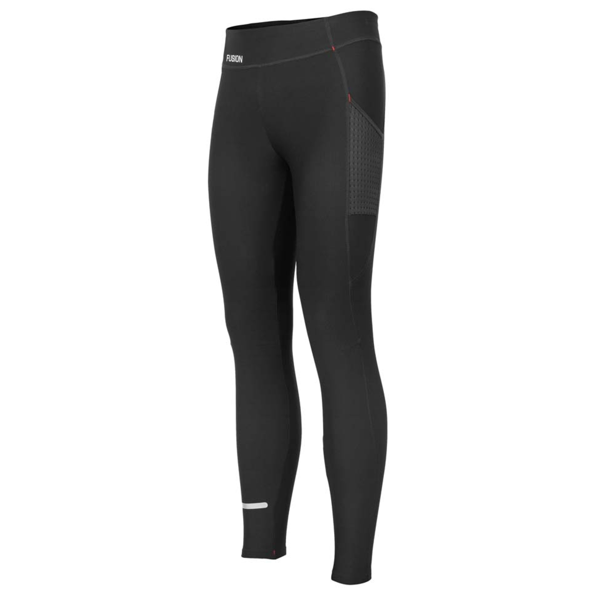 Fusion, hot long tight, løbetights, sort