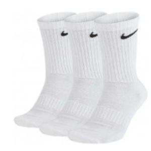 Nike, everyday, strømper, cushion, 3-pack, hvid