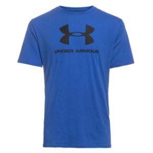 Under Armour, T-shirt, blå, logo