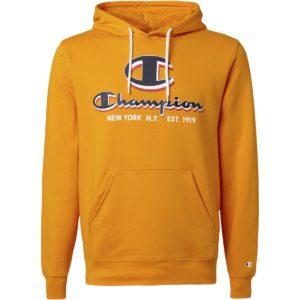 Champion, hættetrøje, gul, legacy, sweatshirt